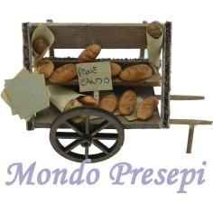 Mondo Presepi Carretto con pane deluxe cm 10