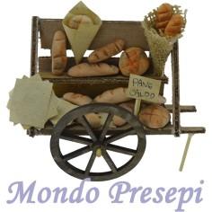 Mondo Presepi Carretto panettiere deluxe cm 11,5