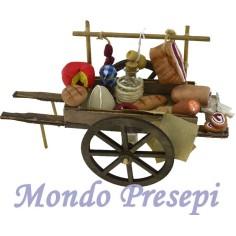 Mondo Presepi Carretto con salumi e formaggi deluxe cm 15
