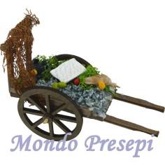 Mondo Presepi Carretto pescivendolo deluxe cm 13,5