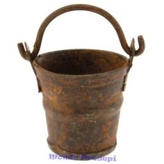 Bucket rusty metal Ø cm 1,6