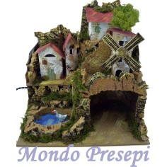 Presepe ovale d'appendere cm 25x36