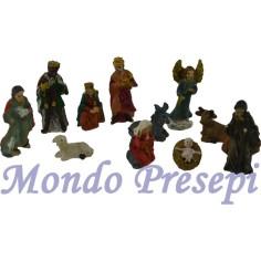 Mondo Presepi Cm 3,3 Natività set 11 soggetto in resina
