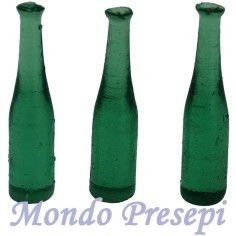 Set of 3 bottles cm 4 green