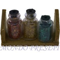 Mensola con vasetti di spezie - Cod. M202