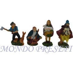 Mondo Presepi Cm 10 Set 4 statue