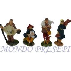 Mondo Presepi Cm 10 Set 4 statue-TFT