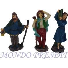 Mondo Presepi Cm 10 Set tre statue in resina