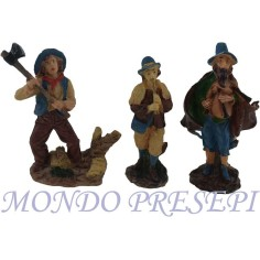 Set tre statue in resina cm 10