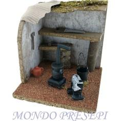 Mondo Presepi Laboratorio fabbro cm 14x14x14
