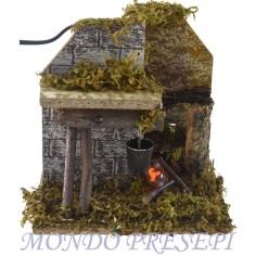 Casa con forno ef. fuoco cm 20x20x32