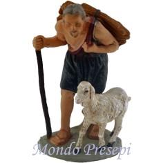 Mondo Presepi Cm 12 Pastore con pecora