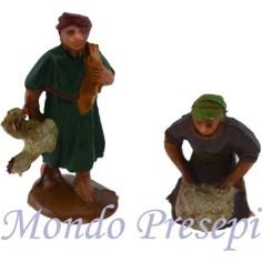 Cm 3,5 Pescatore e donna con anfora