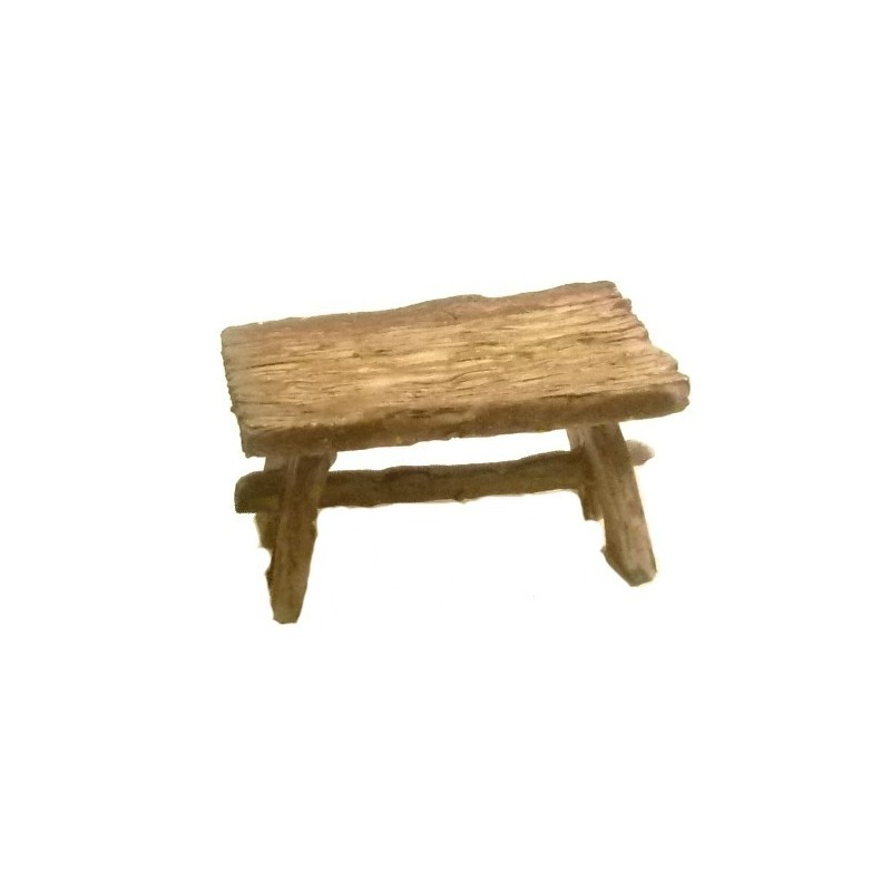 Wood effect table 8x5.5 cm