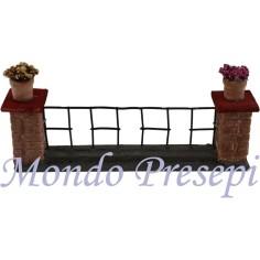Mondo Presepi Ringhiera con pilastri e vasi cm 18,5