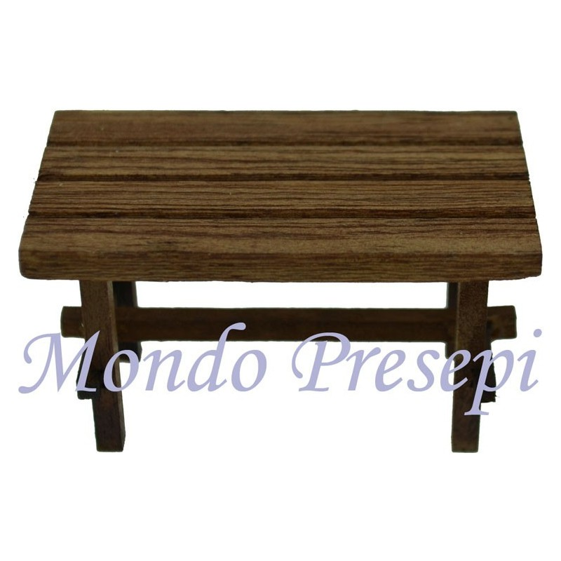 Wooden table 7x4x4 cm