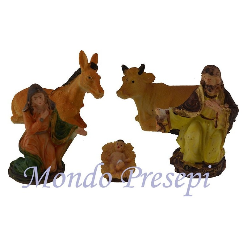 Cm 10 Nativity in resin 5 subjects - NT105