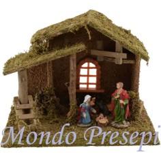 Capanna in legno con finestra cm 33x18x24