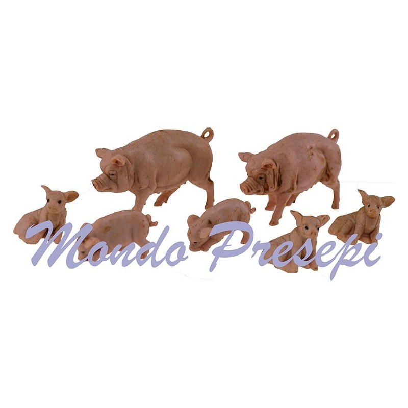 Bag for 6 pigs in patinated pvc - Cod. ZAM1