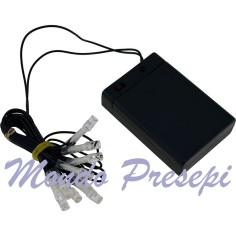Collana 10 led a luce fredda a batteria - F10
