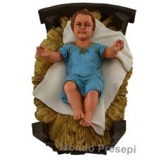 Mondo Presepi Culla con bambinello per statue cm 30