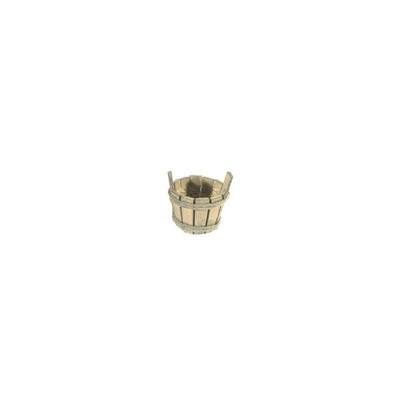 Mondo Presepi Tinozza lux cm 4 in legno - Cod. M84