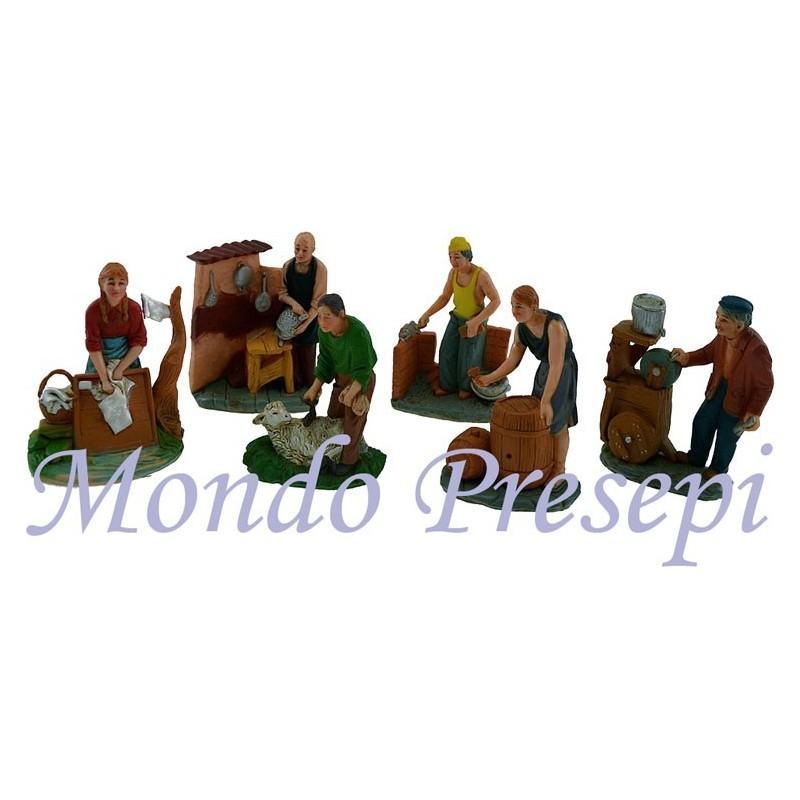 Mondo Presepi Set 6 artigiani cm 10 - Cod. ZAA1
