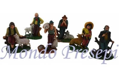 Mondo Presepi Set 6 pastori cm 10 - Cod. PD05