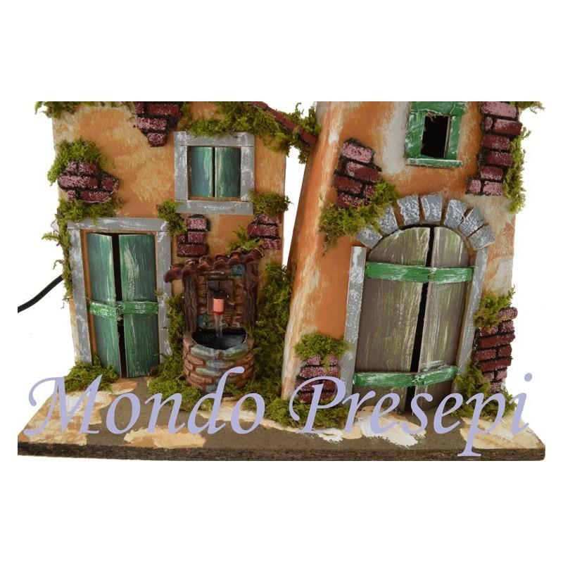 Mondo Presepi Case con fontana funzionante