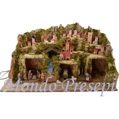 Crib full of statues landi mill, and lights cm 80x50x50