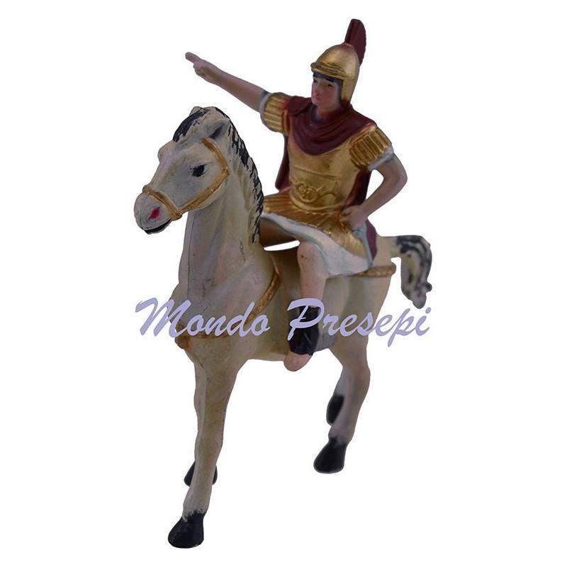 Mondo Presepi Soldato romano a cavallo cm 8
