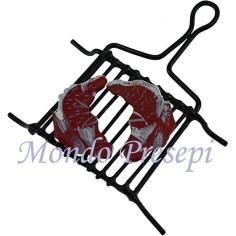 Mondo Presepi Graticola in metallo con bistecche