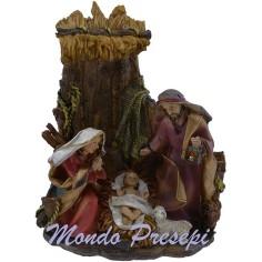 Mondo Presepi Sacra famiglia in resina statue cm 10 h.