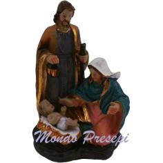 Sacra famiglia in resina statue cm 8 h.