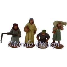 Mondo Presepi Cm 3,5 set 4 figure