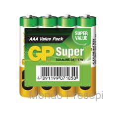4 Pile AA stilo alkaline Gp Super