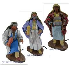 Set of three King Magi 30 cm in motion