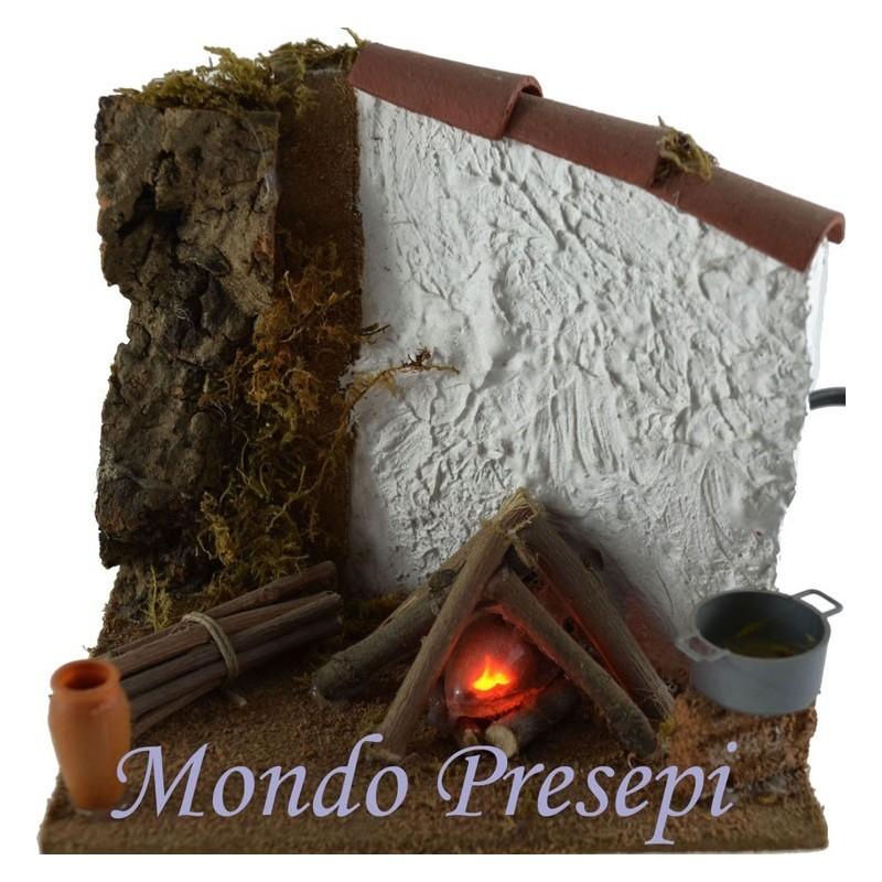 Mondo Presepi Fuoco stuccato - FF03