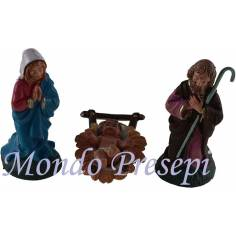 8 Cm Nativity set 3 pcs pvc