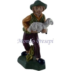 10 Cm Shepherd with sheep in arm