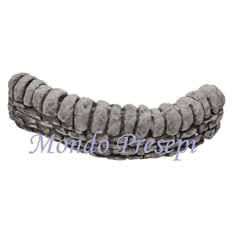 Muretto in pietra a semicerchio cm 18 Mondo Presepi