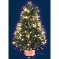 Albero Natale Rosa 45H. a Fibre Ottiche Sfumate