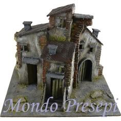 Mondo Presepi Caseggiato stuccato cm 29x24x23 h.