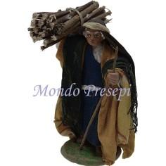 Cm 9 Lux Pastore con fascina di legna a spalle