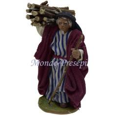 Mondo Presepi Cm 9 Lux Pastore con fascina di legna a spalle