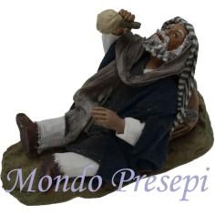 Mondo Presepi Cm 9 Lux Ubriaco seduto con botte