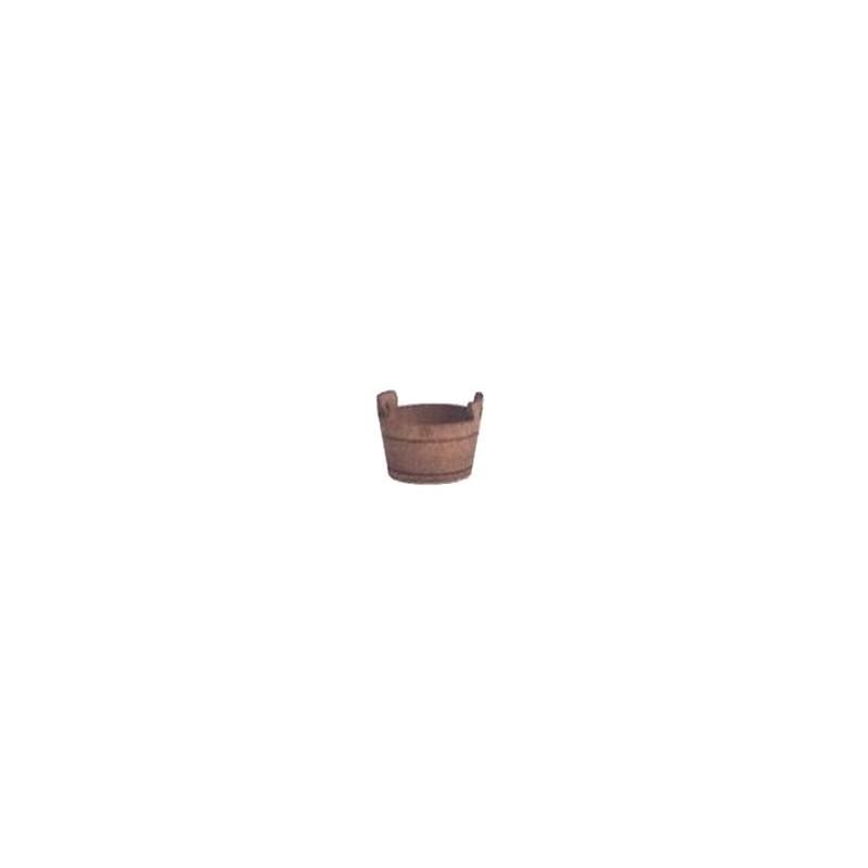 Mondo Presepi Tinozza in legno con manici ø 2,5 cm