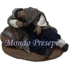 Mondo Presepi Dormiente su botte Lux cm 12