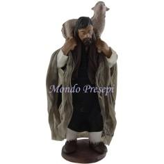 Uomo con pecora sulle spalle Lux cm 12