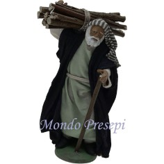 Old man with stick and bundle Lux cm 12